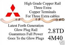 Glow Plug Rail New Generation Copper 2.8TD